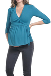 BEACHCOCO-Wrap-Front Nursing top-Top-Beachcoco-maternity-Black-Small-maternity-clothing