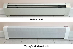 EZ Snap Baseboard Radiator Covers Before & After