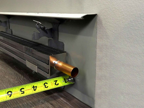 Depth | Measure | EZ Snap™ Baseboard Heater Cover