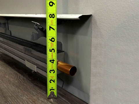 Floor to top of Fintube | EZ Snap™ Baseboard Heater Covers