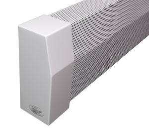 "EZ Snap Covers Standard Height 7 1/2"" White Baseboard Heater Cover Kit with 2 Closed End Caps"