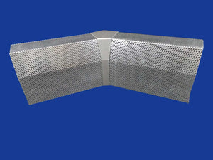 EZ Snap Baseboard Heater Cover Standard Galvanized 45 Degree Inside Corner
