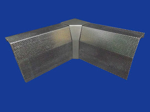 EZ Snap Baseboard Heater Cover Standard Galvanized 90 Degree Inside Corner