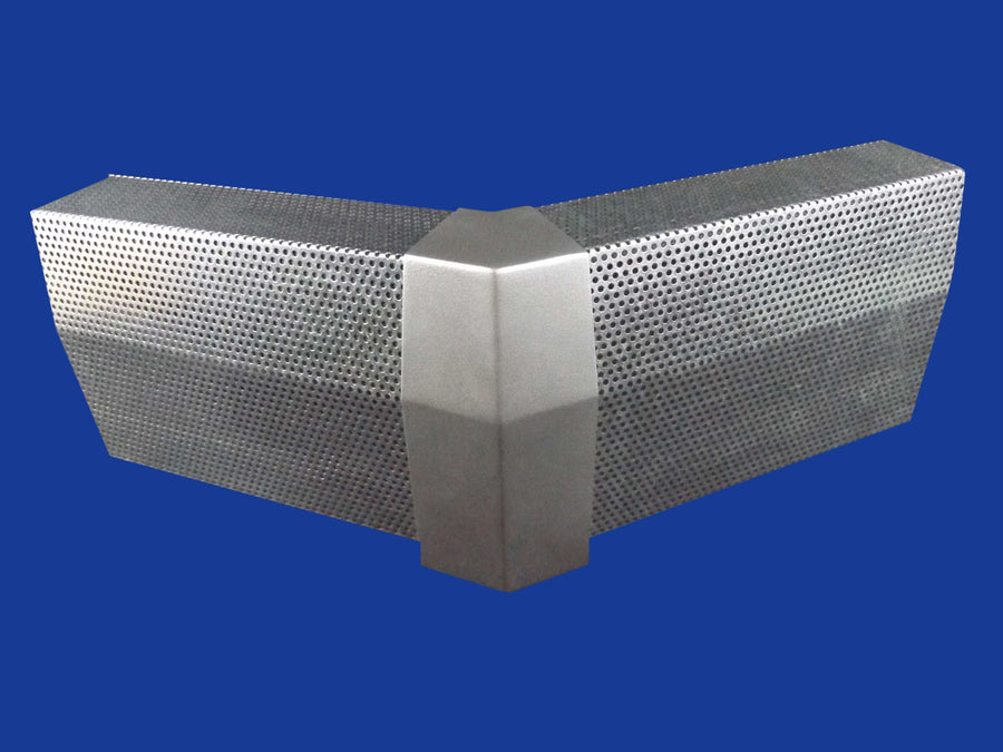 EZ Snap Baseboard Heater Cover Standard Galvanized 45 Degree Outside Corner