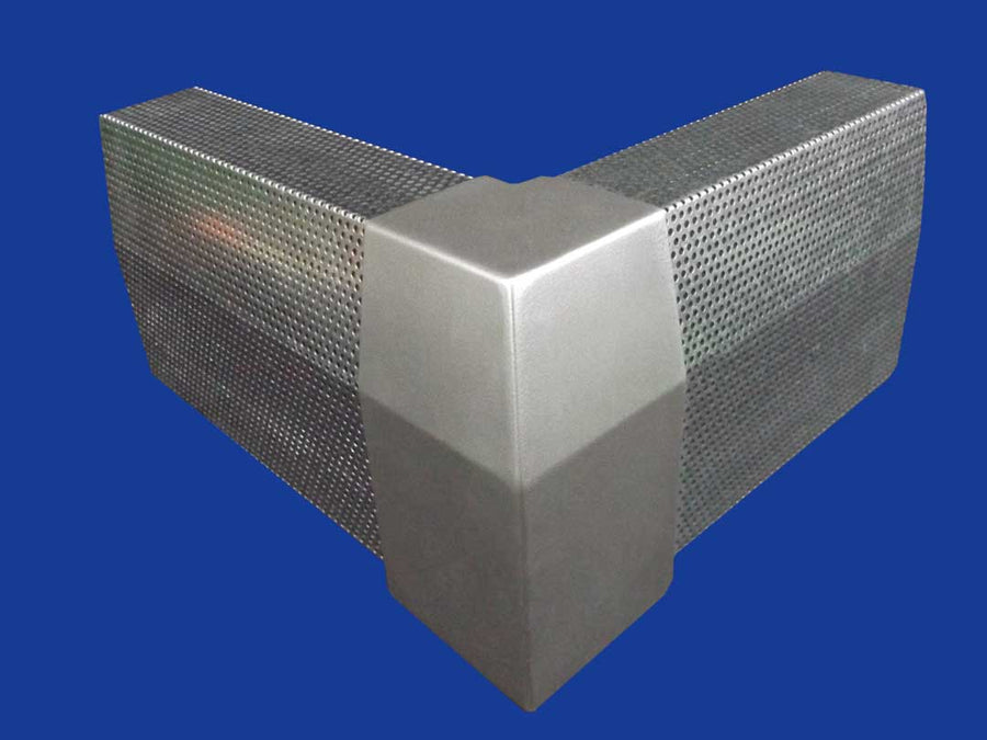 EZ Snap Baseboard Heater Cover Standard Galvanized 90 Degree Outside Corner