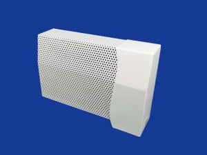 EZ Snap Baseboard Heater Cover Standard White Wavy Gravy Right Endcap Closed
