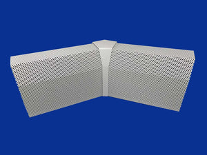 EZ Snap Baseboard Heater Cover Standard White 45 Degree Inside Corner