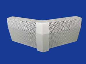 EZ Snap Baseboard Heater Cover Standard White 45 Degree Outside Corner