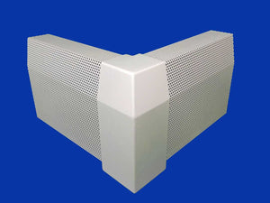 EZ Snap Baseboard Heater Cover Standard White 90 Degree Outside Corner