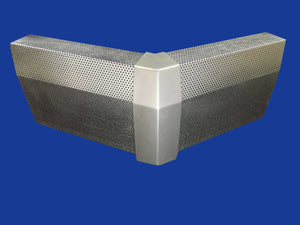 EZ Snap Baseboard Heater Cover Tall Galvanized 45 Degree Outside Corner