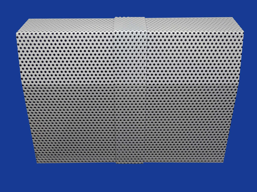 EZ Snap Baseboard Heater Cover Tall White Mesh Coupler