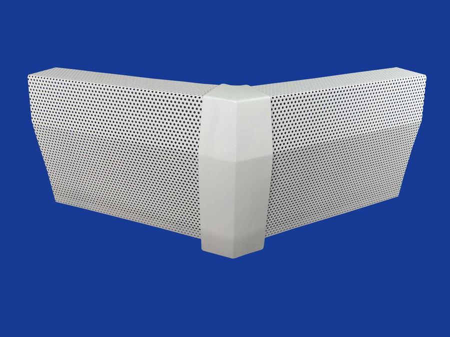 EZ Snap Baseboard Heater Cover Tall White 45 Degree Outside Corner