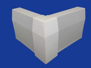 EZ Snap Baseboard Heater Cover Tall White 90 Degree Outside Corner