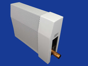 EZ Snap Baseboard Heater Cover Tall White Right Endcap Open