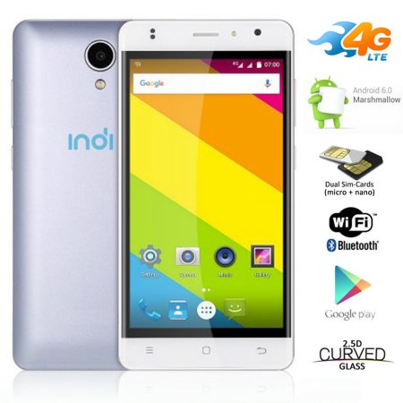Indigi® 4G Lte Smart Cell Phone Ultra-Slim 5.0in