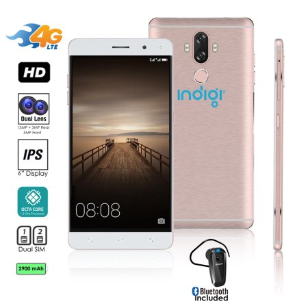 4G LTE GSM Unlocked 6in SmartPhone by Indigi® (
