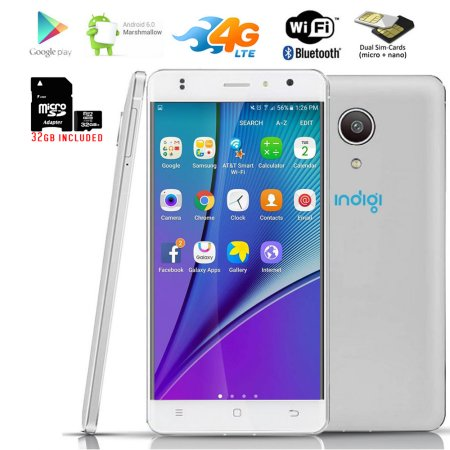 Indigi® 4G LTE SmartPhone Ultra-Slim 5.0in Curved Screen