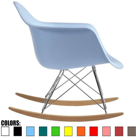 2xhome - Blue - Eames Style Molded Modern