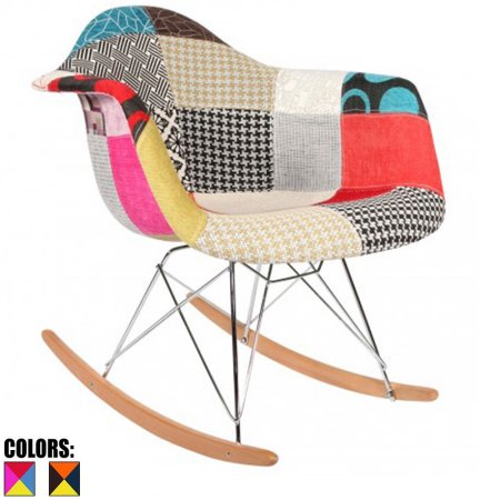 2xhome - Multi-color – Modern Upholstered Eames Style Armchair
