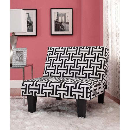 Kebo Chair, Black and White Geometric Pattern with