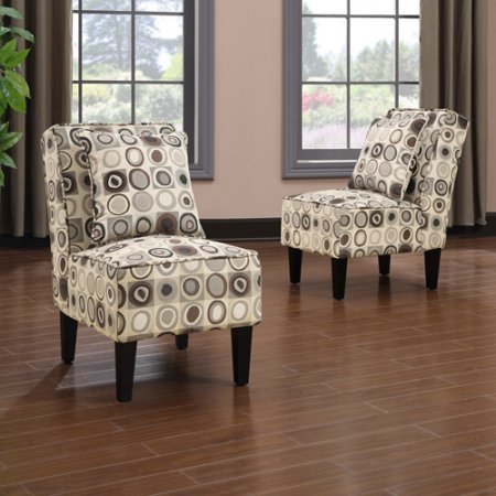 Handy Living Dani Armless Accent Chair, Set of 2,