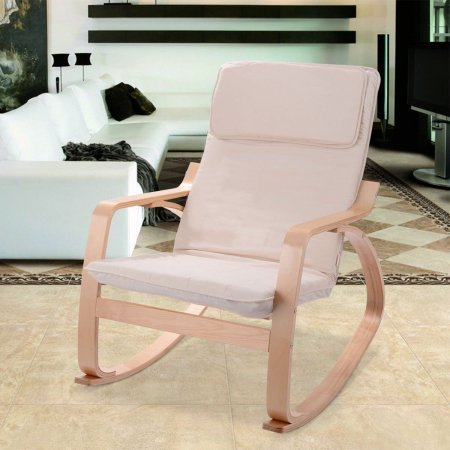New MTN-G Off White Rocking Chair Armchair Leisure