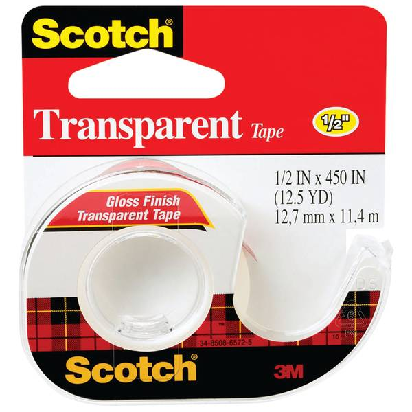"Scotch 1/2"" Transparent Tape"