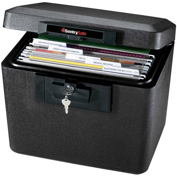 SentrySafe .61 cu. Ft. Fireproof/Waterproof Safe with Key Lock