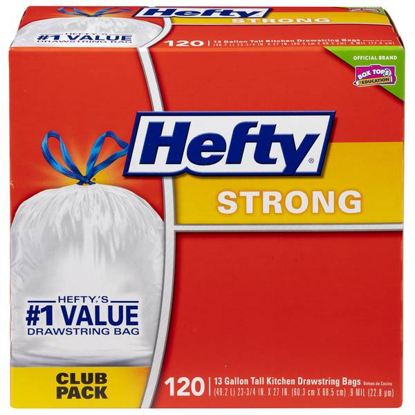 Hefty Strong Tall Kitchen Drawstring Trash Bags