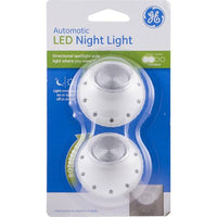 GE 2-Pack Incandescent Auto Night Light