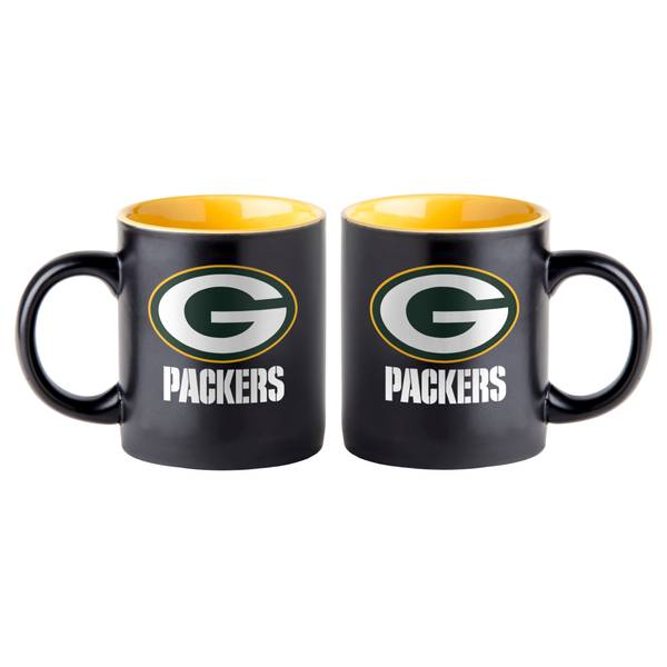 All Star Sports Green Bay Packers 14 oz Black Matte Mug