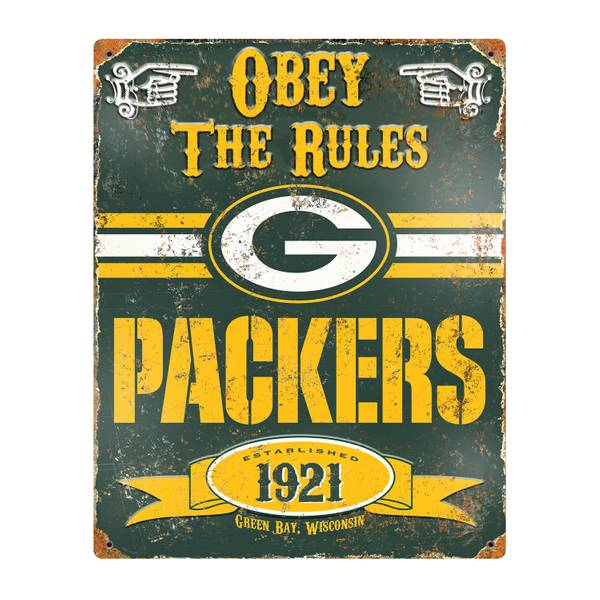 Party Animal, Inc. Green Bay Packers Embossed Metal Sign
