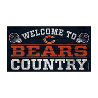 "WinCraft NFL Chicago Bears ""Welcome To Bears Country"" Sign"