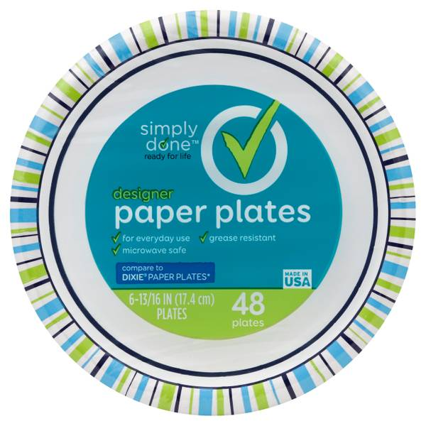 "Simply Done Designer 7"" Paper Plates"