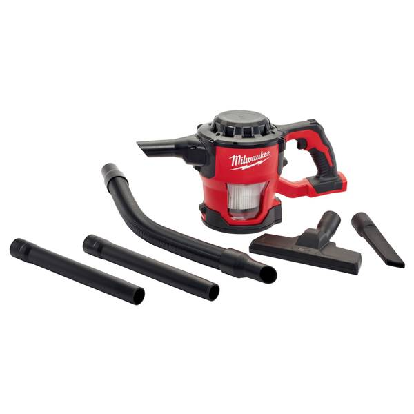 Milwaukee 0882-20 M18 18V Lithium-Ion Cordless Compact Vacuum with 4' Hose, Extensions and HEPA Filter