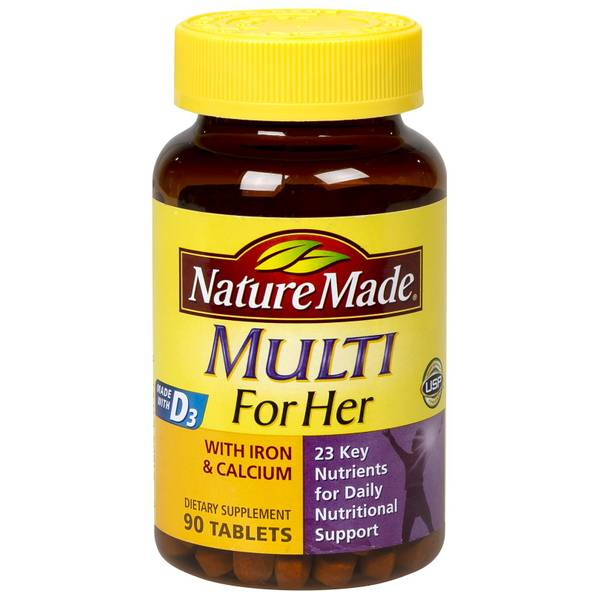 Nature Made Multi For Her with Iron & Calcium Tablets