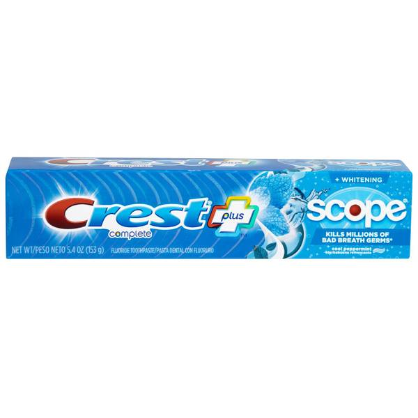 Crest Complete Whitening + Scope Cool Multi-Benefit Toothpaste