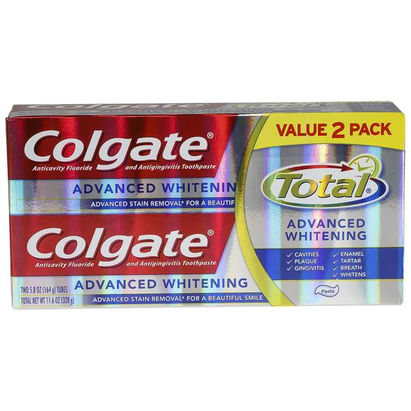 Colgate 11.6oz Total Advanced Toothpaste 2pk