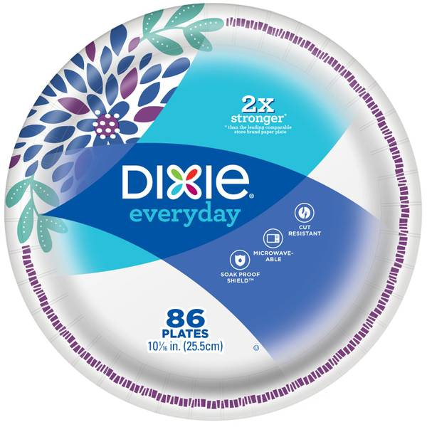 "Dixie 86-Count Everyday 10"" Disposable Plates"