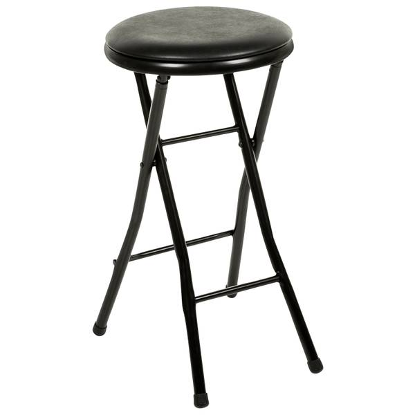 Plastic Development Group Black Folding Bar Stool
