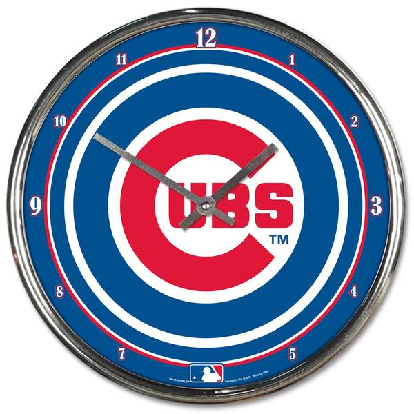 MLB Chicago Cubs Chrome Clock