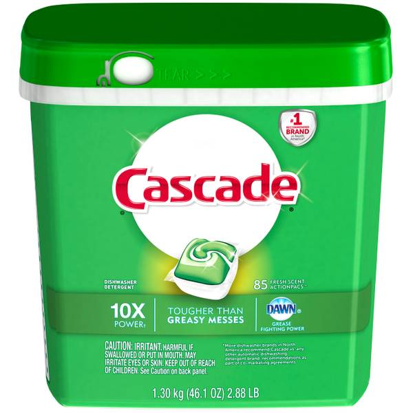 CASCADE 85 Count Fresh Scent Action Packs