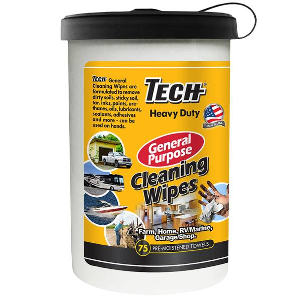Tech 75 Count Tech Heavy Duty All Purpose Wipes
