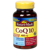 Nature Made 40 Count Coq10 400mg Softgels