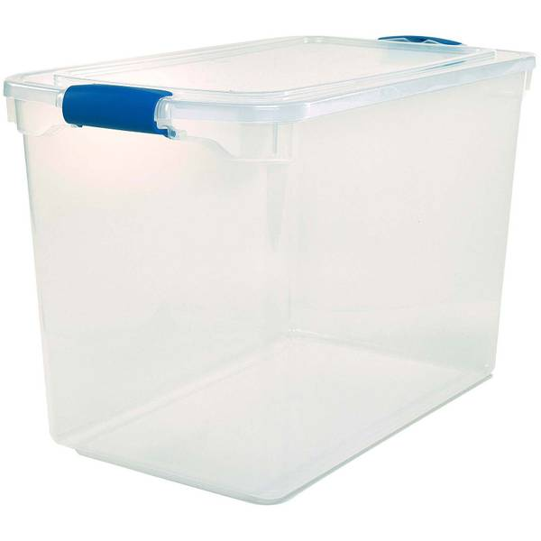 Homz 112 Quart Clear Latching Tote