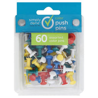 Simply Done 60 Count Push Pins