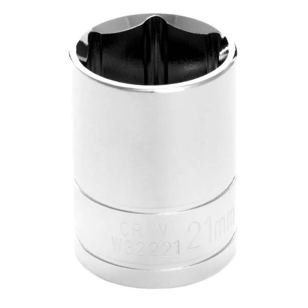 "Performance Tool 1/2"" Drive 21mm 6 Point Socket"