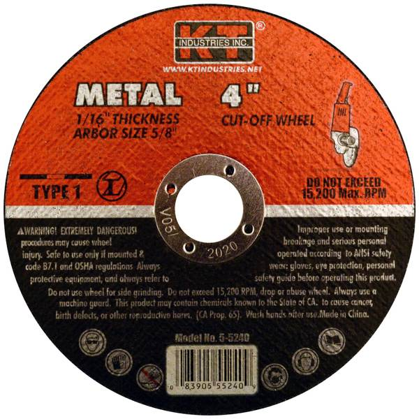 "K-T Industries 4"" Metal Cutting Wheel"