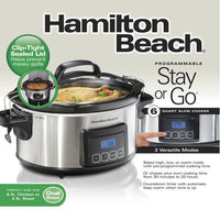 Hamilton Beach 6 Qt Program Stay or Go Slow Cooker