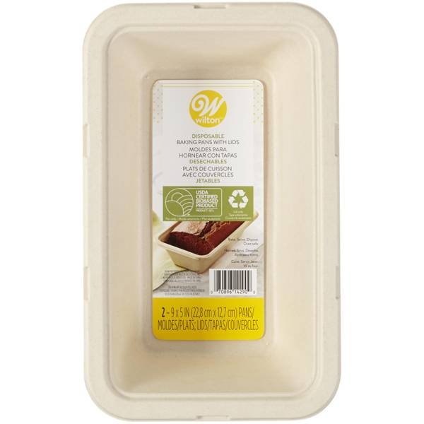 "Wilton 2-Pack Disposable 9""x5"" Loaf Pan with Lid"